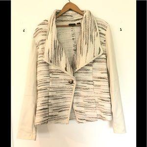 TRIBAL knit cardigan/blazer with faux leather